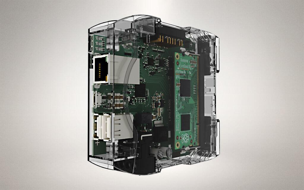 Revolution Pi Core Glas Design