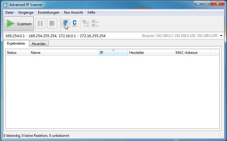 Advanced IP Scanner Screenshot