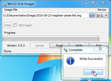 Datei wurde erfolgreich übertragen Screenshot
