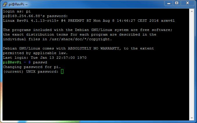 Eingabe aktuelles Passwort Screenshot