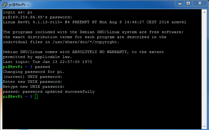 Password has been updated successfully