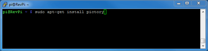 install pictory