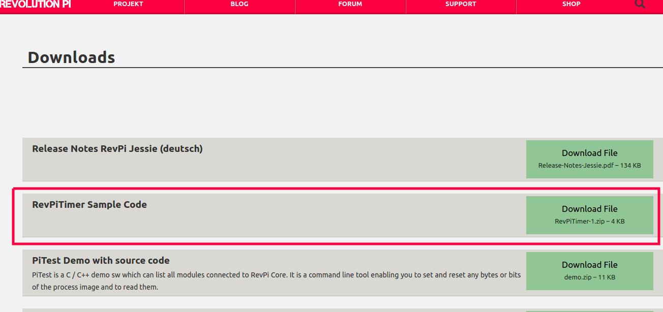 RevPiTimer Download