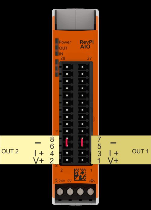 Analog output pinout graphic