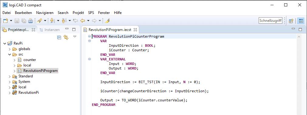 """Projekt """"Zähler-Projekt für Revolution Pi"""" Screenshot"""