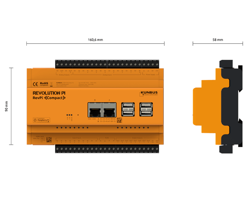 Industrial IoT Gateway basierend auf Raspberry Pi
